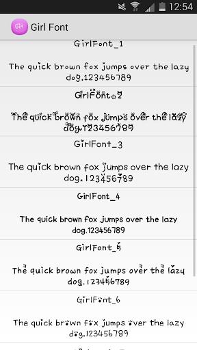 Girl Font Flipfont Free