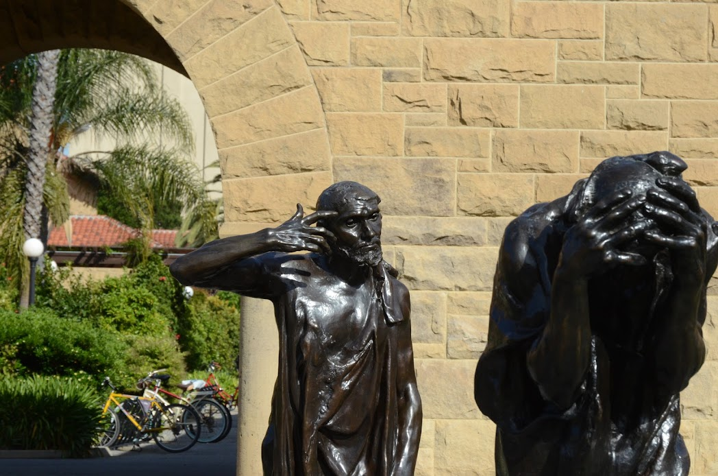 Bronze statues by Auguste Rodin