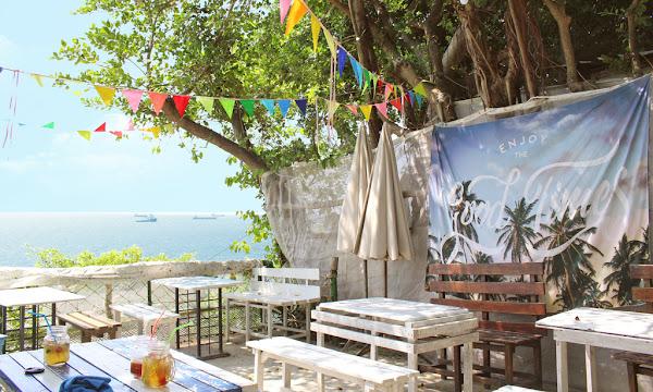 萊加呵Nine J -寧靜適合放空海景咖啡庭院,情侶約會首選,平價餐點