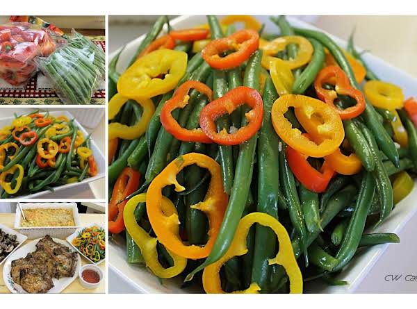 French Style Green Beans With Rainbow Peppers