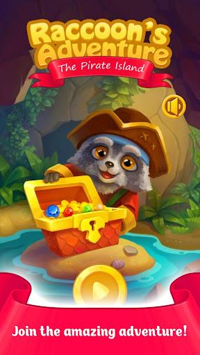 Raccoon's Adventure: The Pirate Island - Match 3 screenshots 1