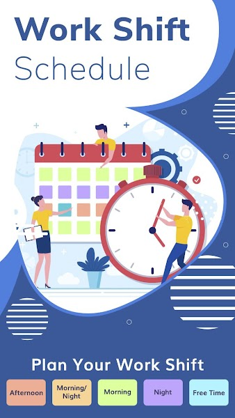 Personal Work Shift Schedule & Calendar