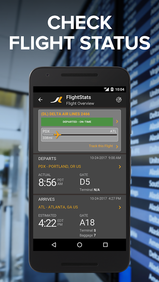 FlightStats- screenshot