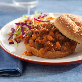 Beefy-Bean Sloppy Joes