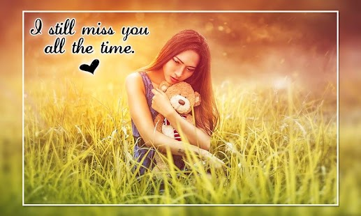 Miss You Photo Editor : Miss You Photo Frames - náhled