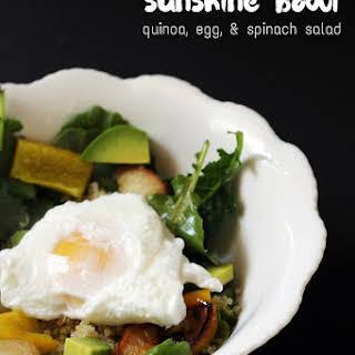 Quinoa, Egg, & Spinach Salad.
