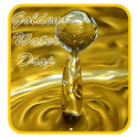 Golden Water Drop icon