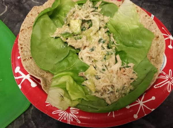 I Love Putting This Chicken-avocado Salad In A Wrap, With Lots Of Butter Lettuce And A Whole Grain Tortilla.