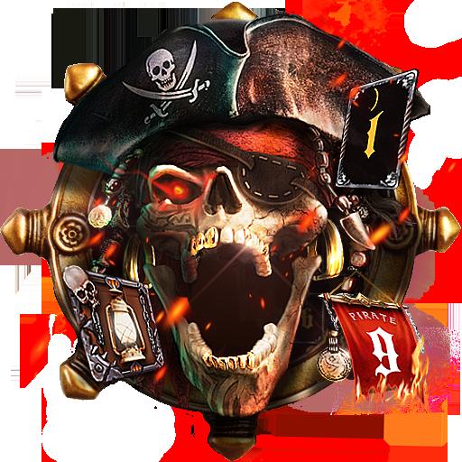 Pirate Skull Keyboard Theme