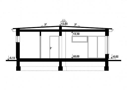 G255 - Budynek rekreacji indywidualnej - Przekrój