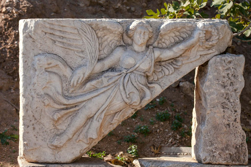 Ephesus-angel.jpg - Stone carving of an angel at Ephesus, Turkey.