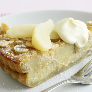 Pear and Almond Impossible Pie.