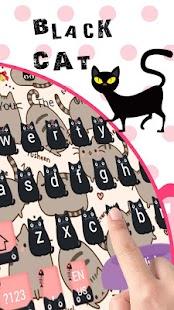 Black CAT keyboard - náhled