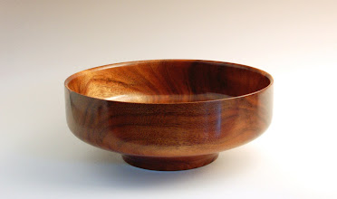 "Photo: Phil Brown -- Koa Fruit Bowl -- 4"" X 10.5"" -- $400"