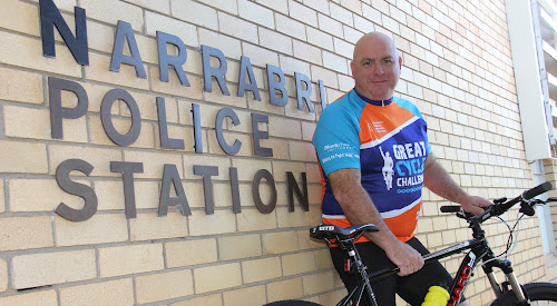 GREAT CAUSE: The memory of his late 12-year-old nephew is the spur that local police officer Jason Dickinson needed to take part in this year's Great Cycle Challenge.