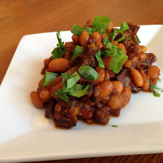 Sweet and Smoky Chorizo Baked Beans with Duke's Jerky.