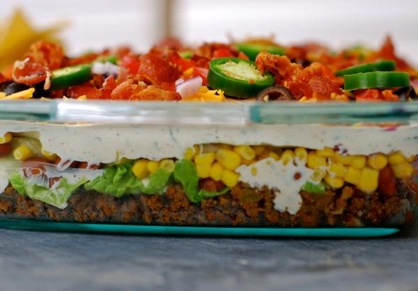 Layered Taco Salad {in A Cake Pan} Recipe | Yummly
