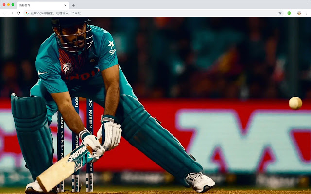 Cricket new tab sports HD wallpaper theme