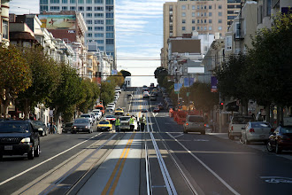 Photo: Heading toward the end of Van Ness Street. Watch out, repair crew