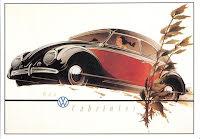 Typ 1 Cabriolet svart/röd