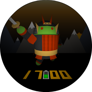 Samurai Android Watch Face Screenshot