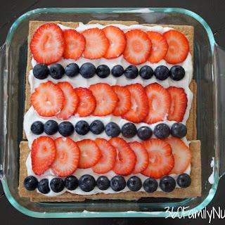 Skinny Greek Yogurt Fruity Icebox Cake.