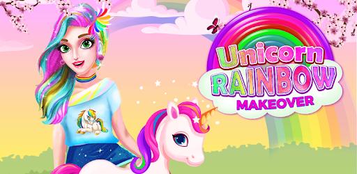 Unicorn Rainbow Makeover - Hair and Beauty Salon for PC