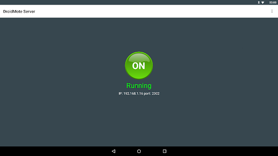 DroidMote Server (root) Screenshot