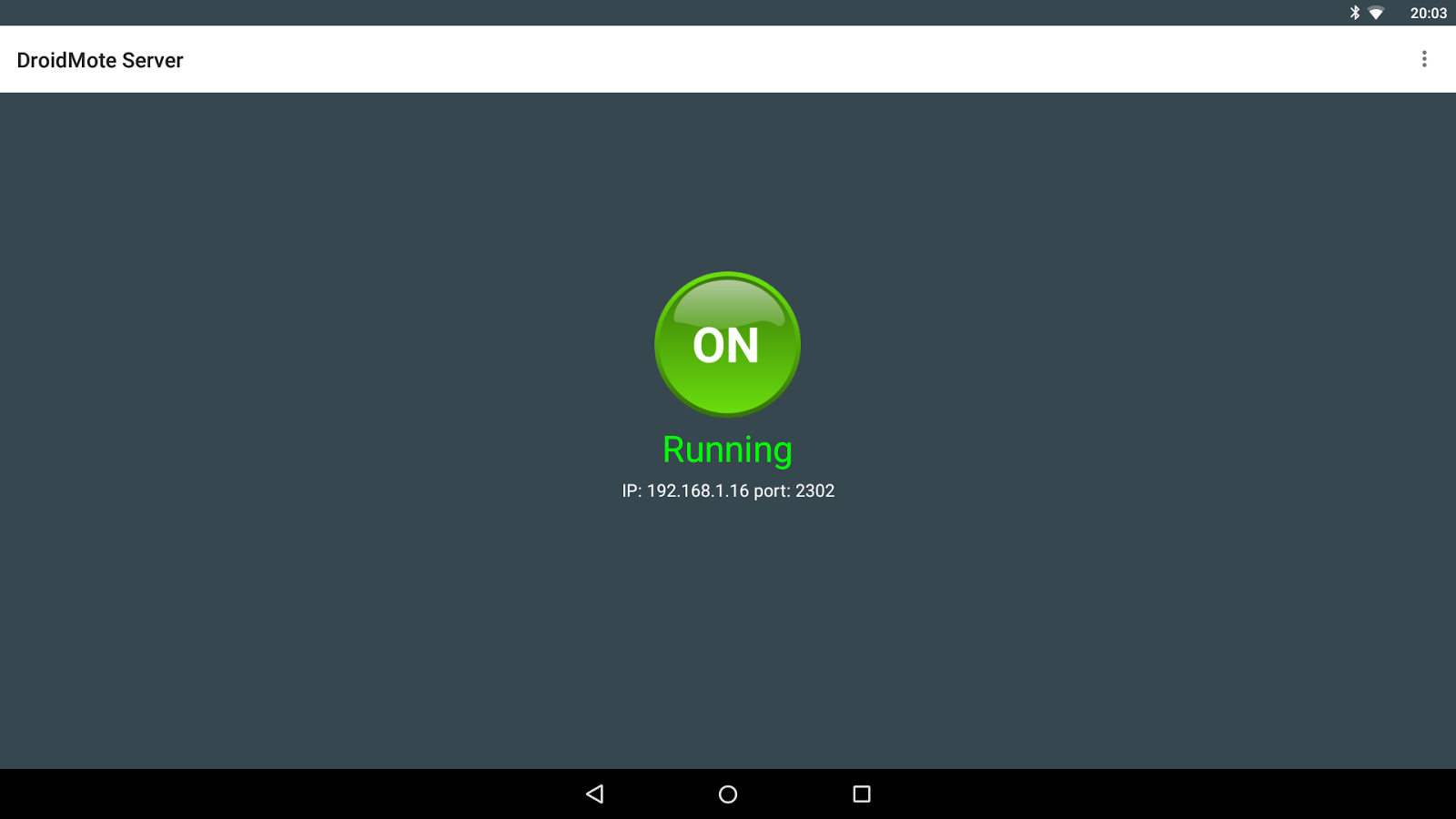 DroidMote Server (root)- screenshot