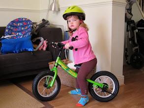 Photo: Kiki's first bike!