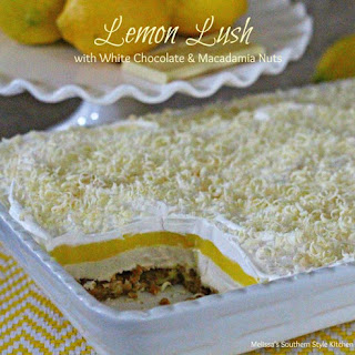 Lemon Lush with White Chocolate and Macadamia Nuts Recipe