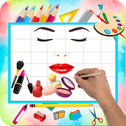 Learn how to draw makeup items step by step