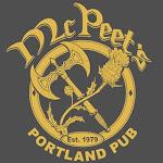Logo for McPeet's Portland Pub