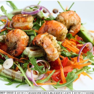 Pan Seared Prawn Salad with Avocado