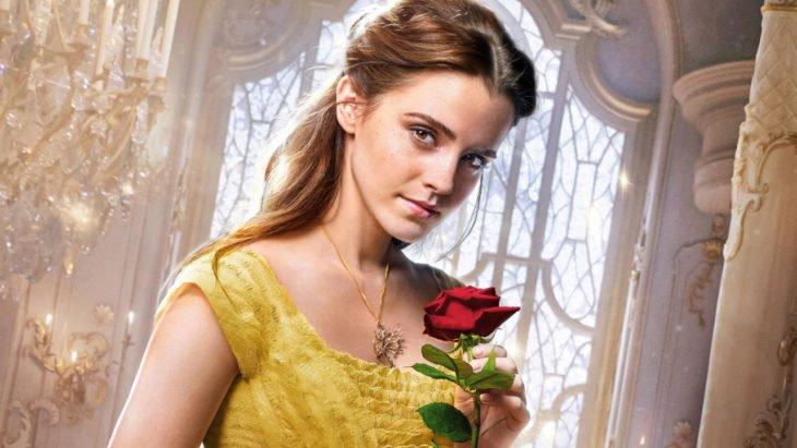 Emma Watson como Bella de la película La Bella y la Bestia