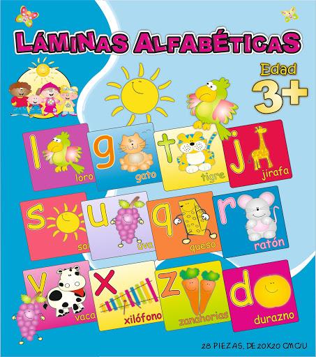 laminas alfabeticas 3 + 28 piezas