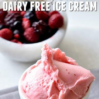 Dairy Free Triple Berry Coconut Ice Cream