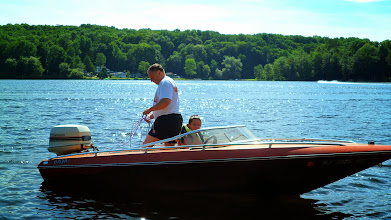 Photo: Dad and Ethan getting ready to take me tubing..