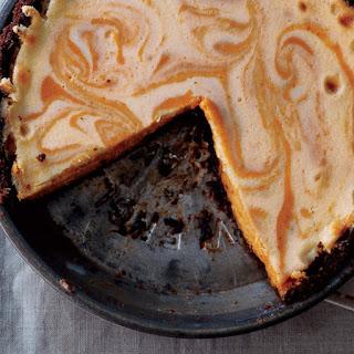 Pumpkin Ginger Cheesecake Pie recipe | Epicurious.com.