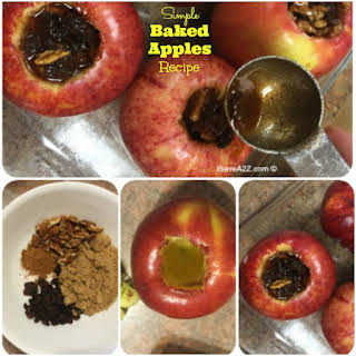 Healthy Baked Apples.