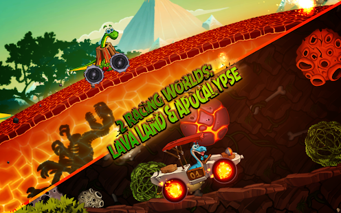 Dino World Speed Car Racing Screenshot