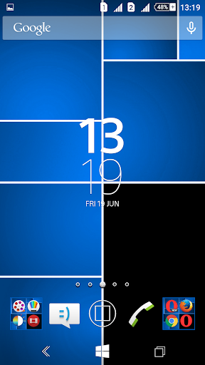 Win8 Blue Tiles XZ Theme