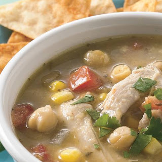 Slow-Cooker Chicken Verde Tortilla Soup.