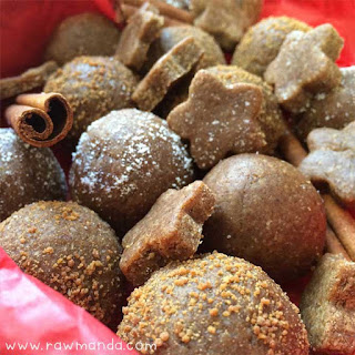 Raw Gingerbread Cookies + Balls.