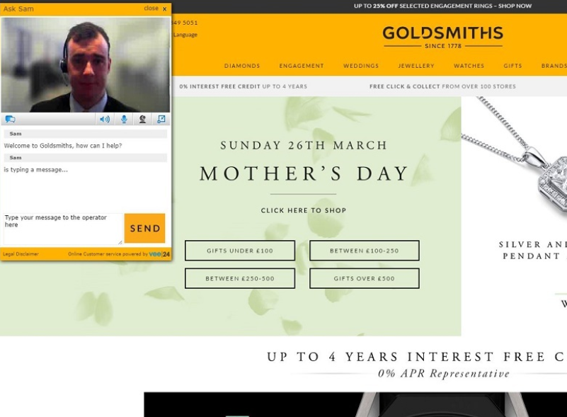 Goldsmiths' website has a neat live-chat feature