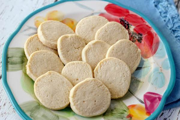 A Plate Of The Ultimate Butter Cookies.