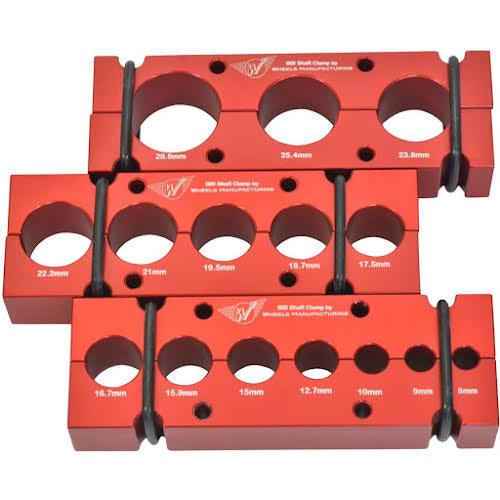 Wheels MFG BBI Shaftclamp, Set of 3, Red
