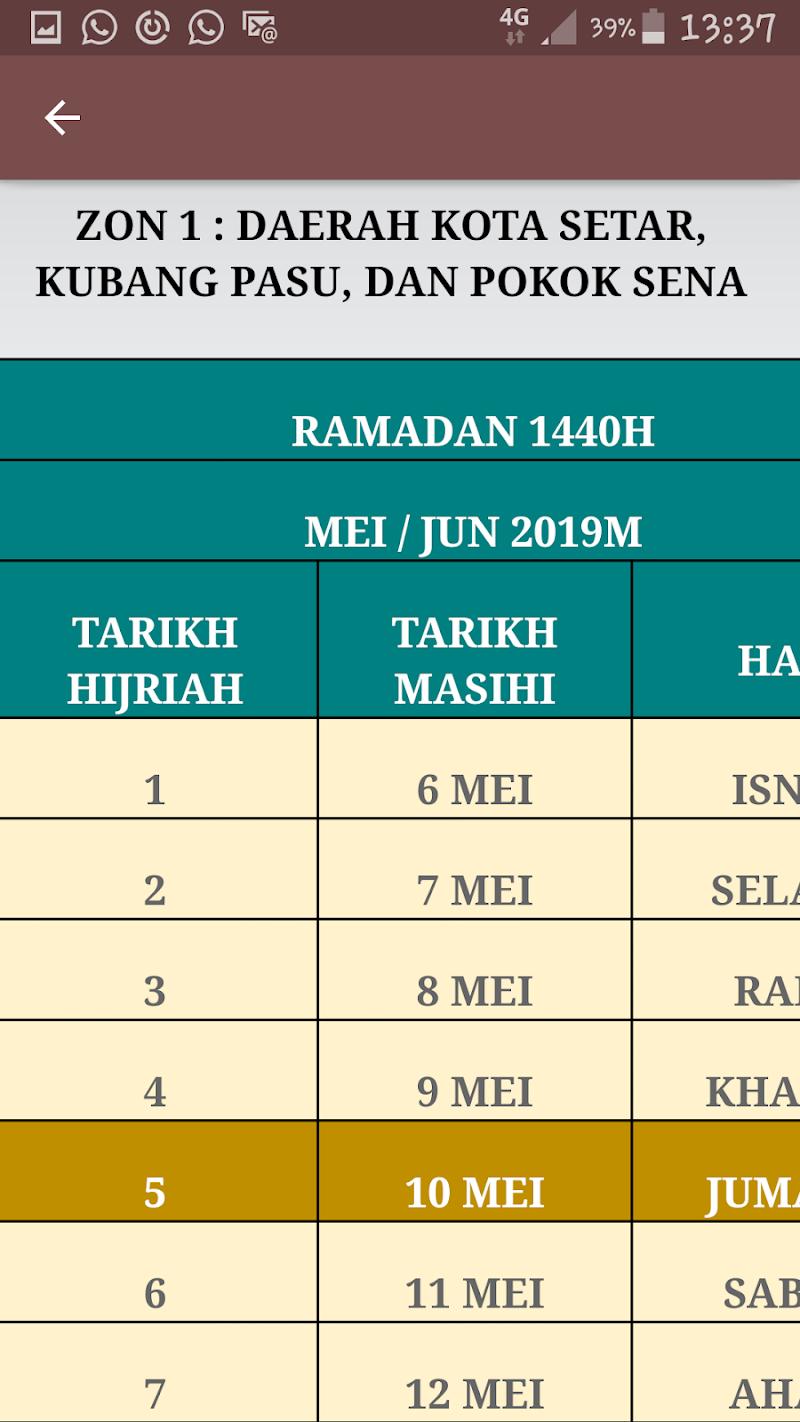 Скриншот Buka Puasa Zon Utara 2019
