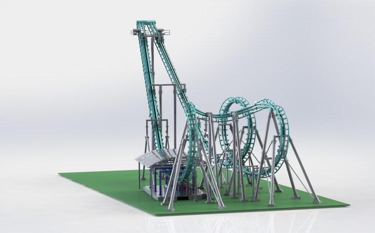 SolidWorks rendering of the Invertigo model