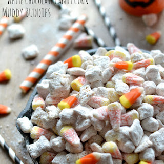 Sweet & Salty White Chocolate Candy Corn Muddy Buddies